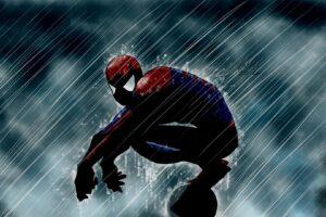 Amazing-Spiderman-Cartoon-Rain